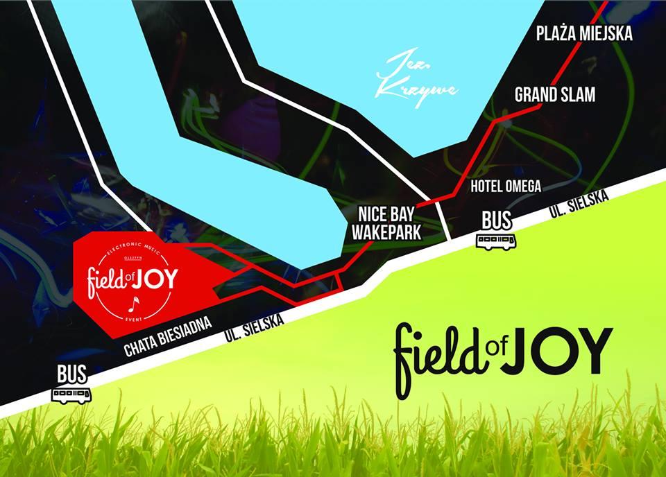 Mapka pokazująca lokalizacje festiwalu.