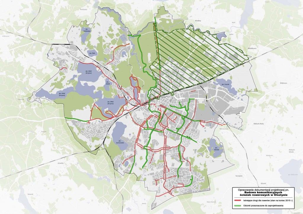 mapa-noweko-projekty sciezek rowerowych