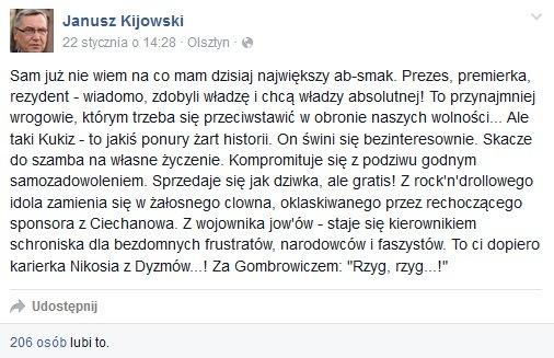 kijowski wpis na fb