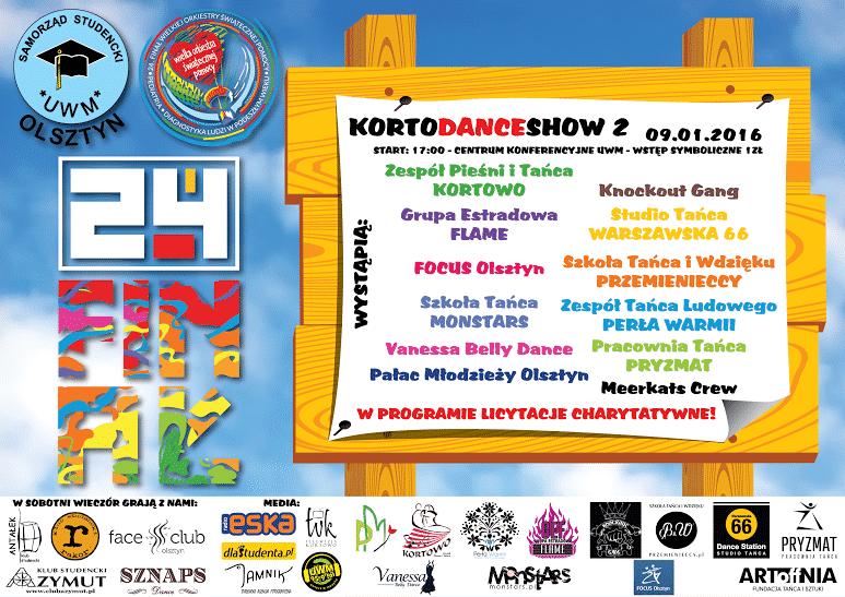 korto dance show 2 wosp plakat