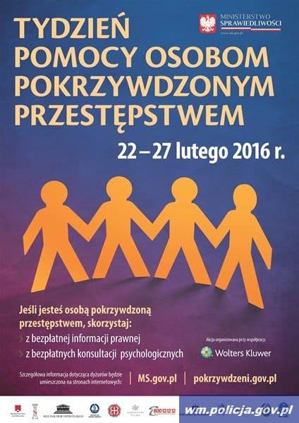 tydzien pomocy osobom pokrzywdzonym przestepstwem plakat