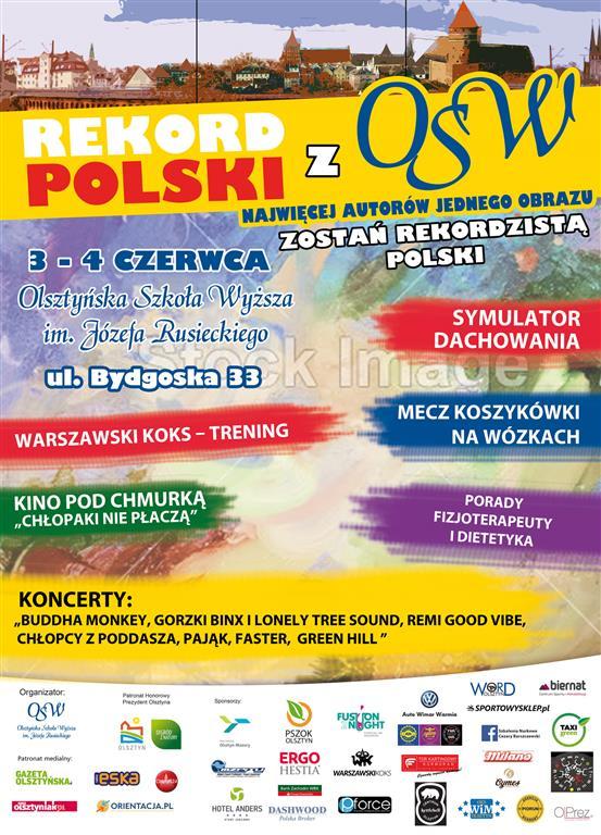 PLAKAT REKORD POLSKI osw