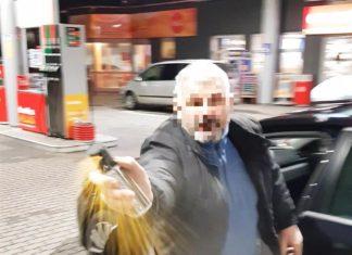 agresywny taksówkarz