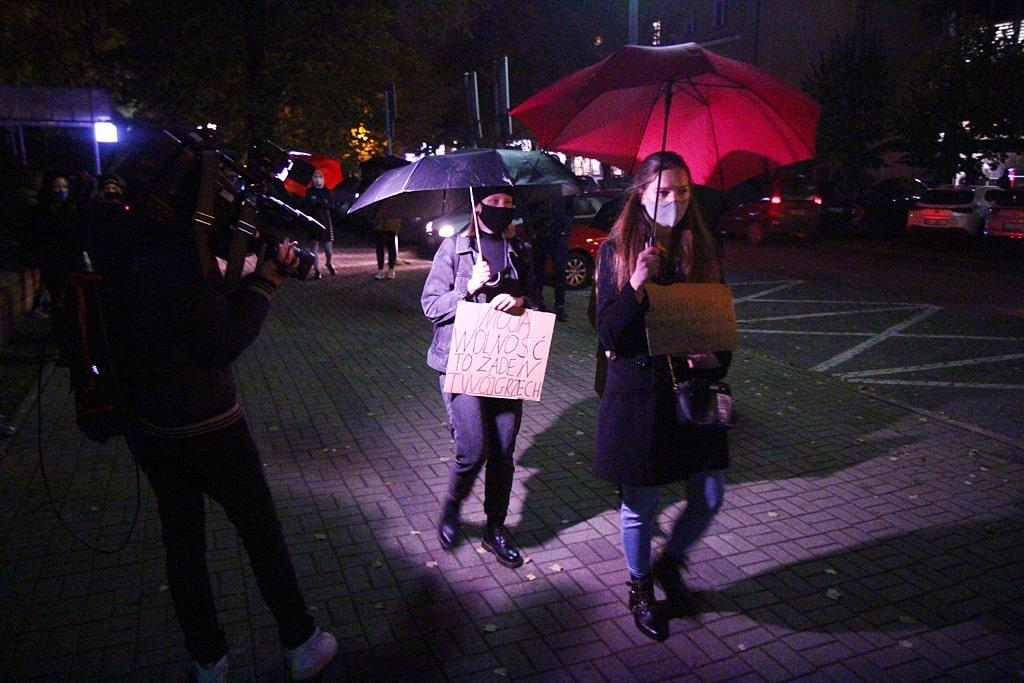 Fotorelacja z wtorkowych protestów w Olsztynie