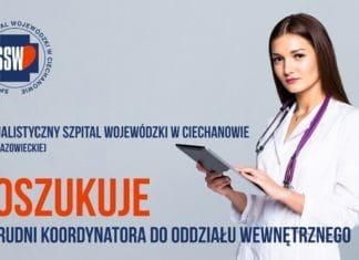 Specjalistyczny Szpital Wojewódzki w Ciechanowie poszukuje lekarzy!