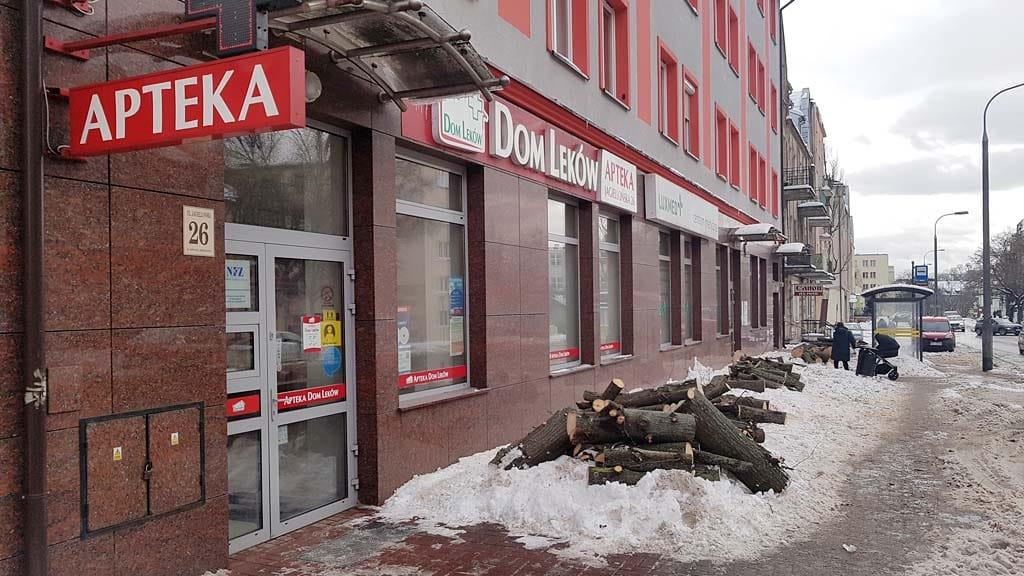 Przeprowadzono kolejną wycinkę drzew w Olsztynie