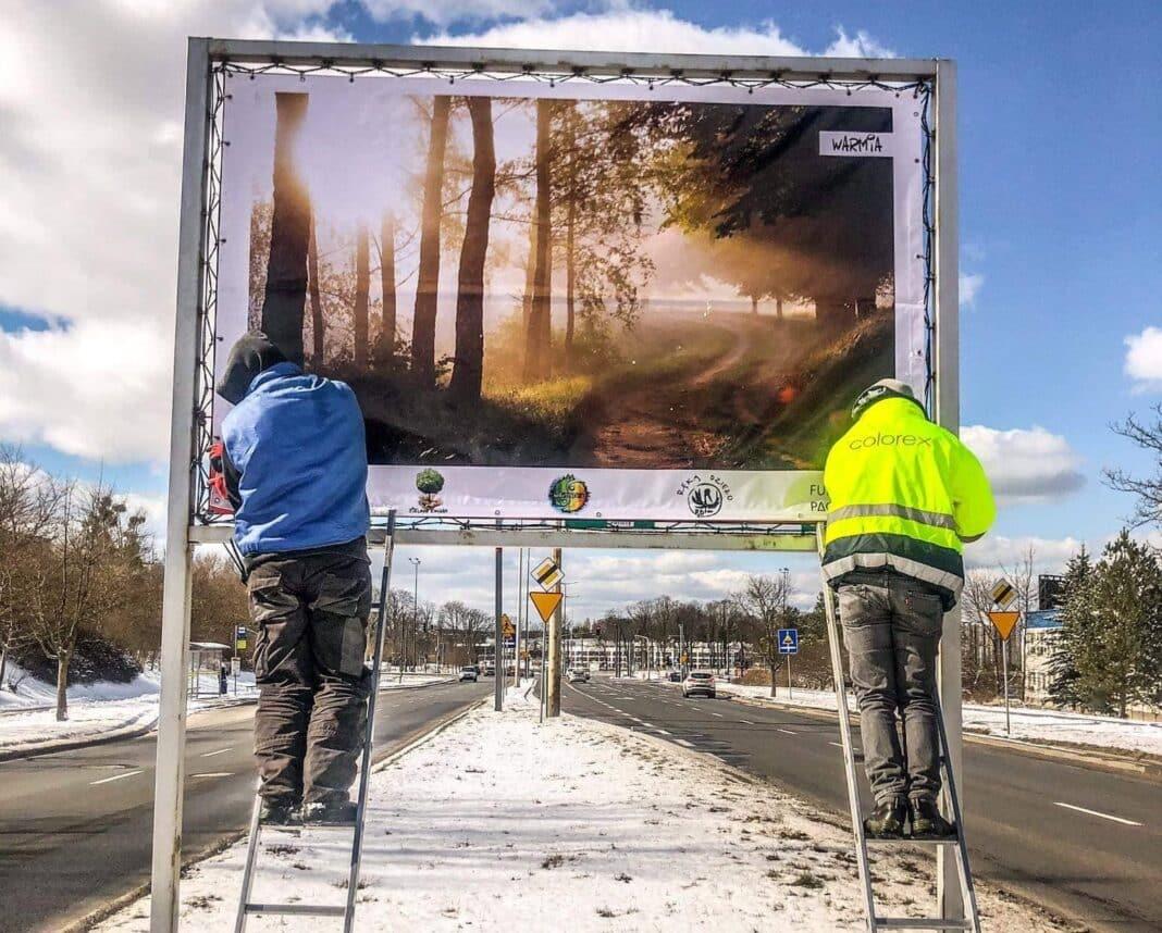 """Bilboardy """"Z drzewami po drodze"""" w Olsztynie"""